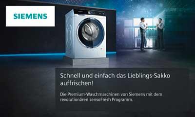 Siemens Kühlschrank Kundendienst : Siemens iq waschmaschine mit sensofresh elektrogeräte im raum